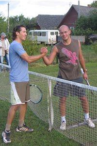 Финалисты Печорского Уимблдона-2006 - Марков Владислав (слева) и Телятников Александр