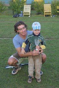 Победитель Печорского Уимблдона-2006 Марков Владислав с сыном Максимом