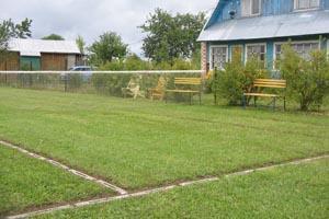 Корт, настоящая трава, ждет участников турнира