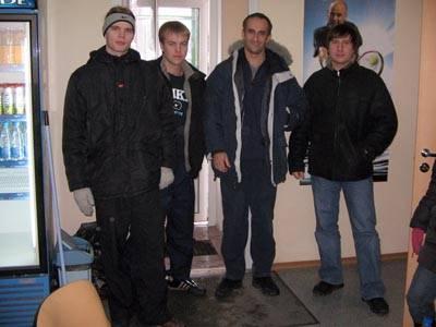 Команда из Петрозаводска приехала побеждать. Слева направо: Игорь Иванов, Шкурупий Роман, Дмитрий Федоров и  Максим Орленок