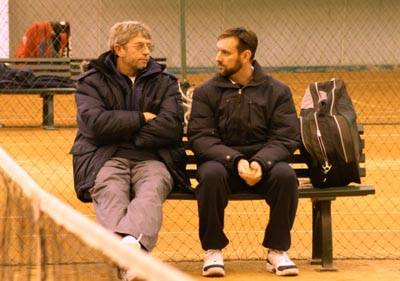 Представители Южно-Африканской школы тенниса Тоби Лохнер (слева)  и Андре Бэй