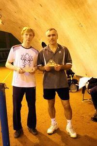Петаев Кирилл (на фото слева) и Дмитренко Юрий - сильнейшая пара в верхнем дивизионе