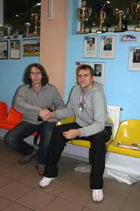 Дмитрий Метелица (В.Новгород – на фото слева) и Шехин Сергей (Петрозаводск): Фестиваль объединяет теннисные сердца