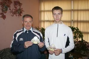 Победители в парном разряде - Герман Борис (слева) и Платонов Павел