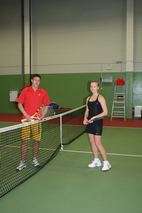 Александр Батуров (Л) и Ксения Бугуличенко тоже сошлись в турнирной игре нижнего дивизиона