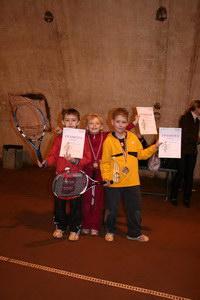 Разряд 7-9 лет (слева направо): Петров Никита (2 место), Рабенау Вика (1 место), Цибин Ярослав (3 место)