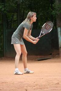 Готовность в стойке теннисиста - NaKorte смотрится красиво и казисто