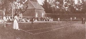 Финал открытого состязания в Териокском теннисном клубе. 1911 год.