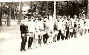 1968 год построение участников детских соревнований
