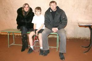 Родители Якушина Олега приехали поддержать своего сына в турнирной борьбе