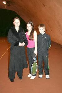 Веронику Мельничук (в центре фото) поддерживала вся семья