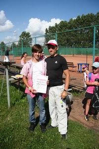 Артем Кириллов (П) привез на турнир своего сына, Антона