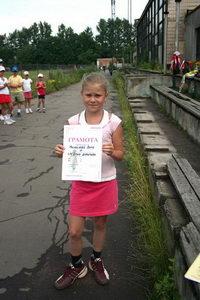 Михайлова Вера - третье место в среднем дивизионе
