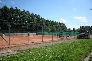 Панорама поля теннисной брани