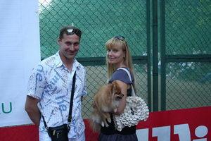 Олег Морозов с супругой Ладой. И собака с ними.