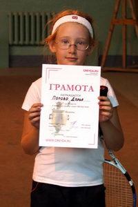 Даша Попова заняла второе место