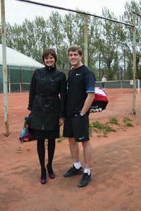 Юрий Чесноков с супругой (по совместительству - болельщица и теннисный наставник)
