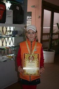 Петрова Вилена победила в категории девушек до 10 лет