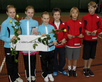 Сборная СПб на первенстве России по теннису среди 12летних