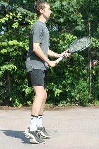 Разножка при работе ног в теннисе
