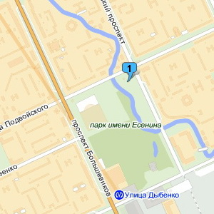 Корты в парке Есенина наЯндекс.Картах