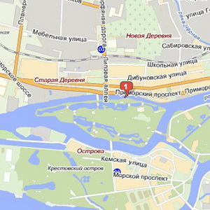 Елагин Остров наЯндекс.Картах