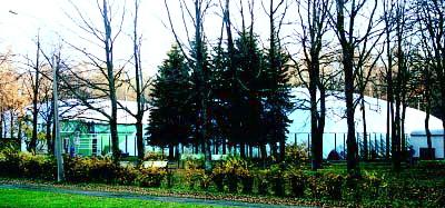 Клуб Крестовский расположился в уютном парке, среди зелени деревьев и недалеко от метро