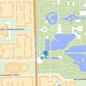 Корты Парка Победы наЯндекс.Картах