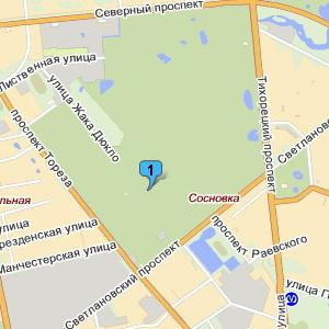 Корты в Сосновском парке  наЯндекс.Картах