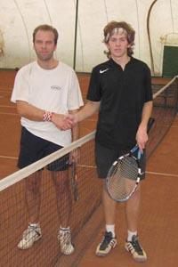 Финалист Богатов Артем (справа) и победитель турнира Константин Щая-Зубров